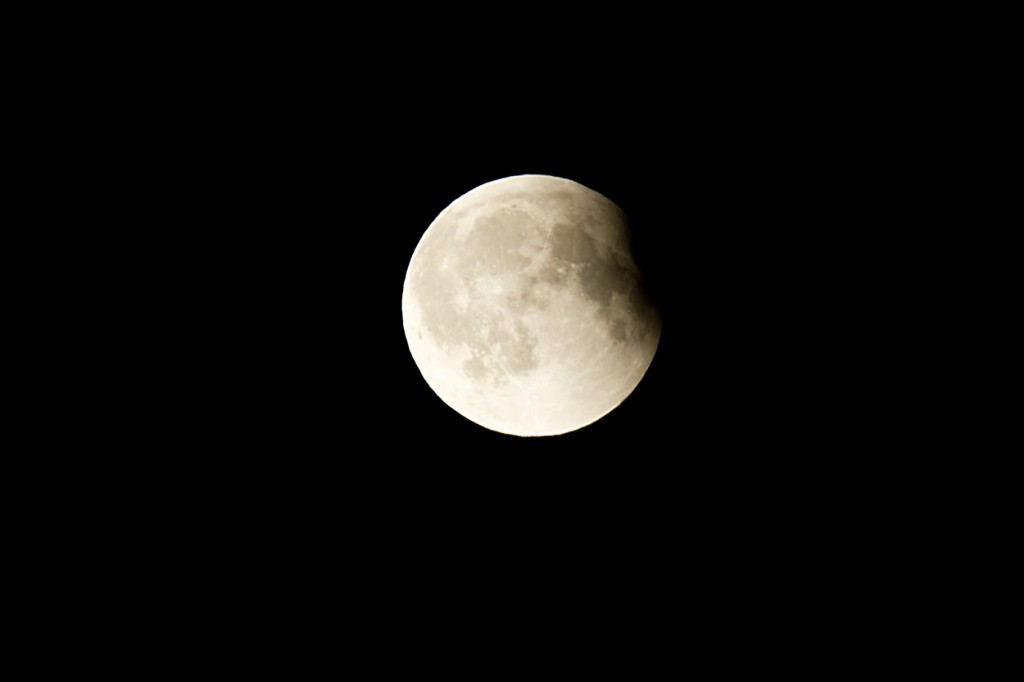Lunar Eclipse Almost back to Full Moon