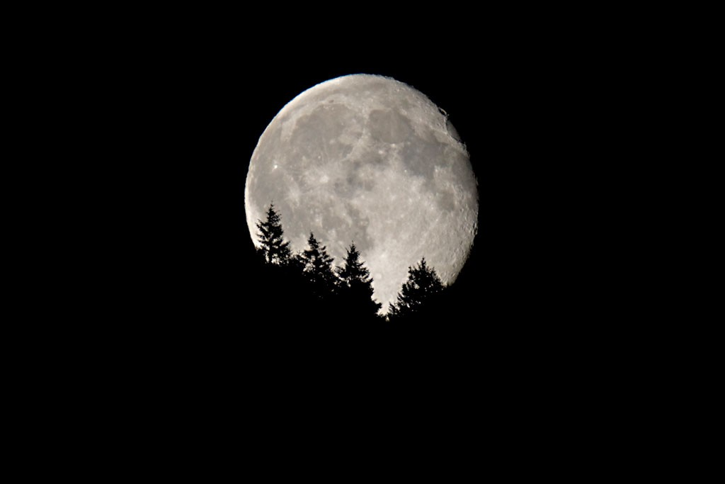 Moonrise over Saltspring Island